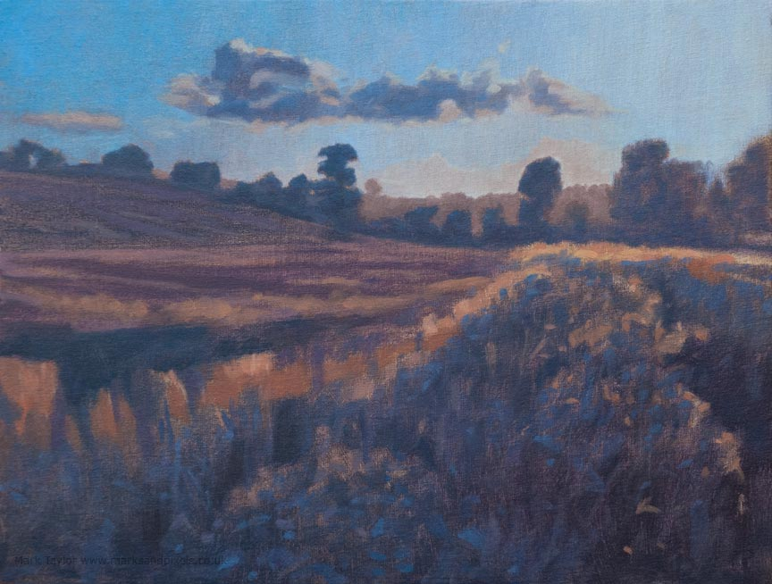 Autumn sunset oil painting Ackworth